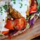 falafel wrap and coriander hummus